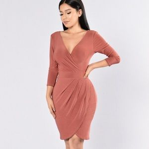 Tulip Dress- Marsala